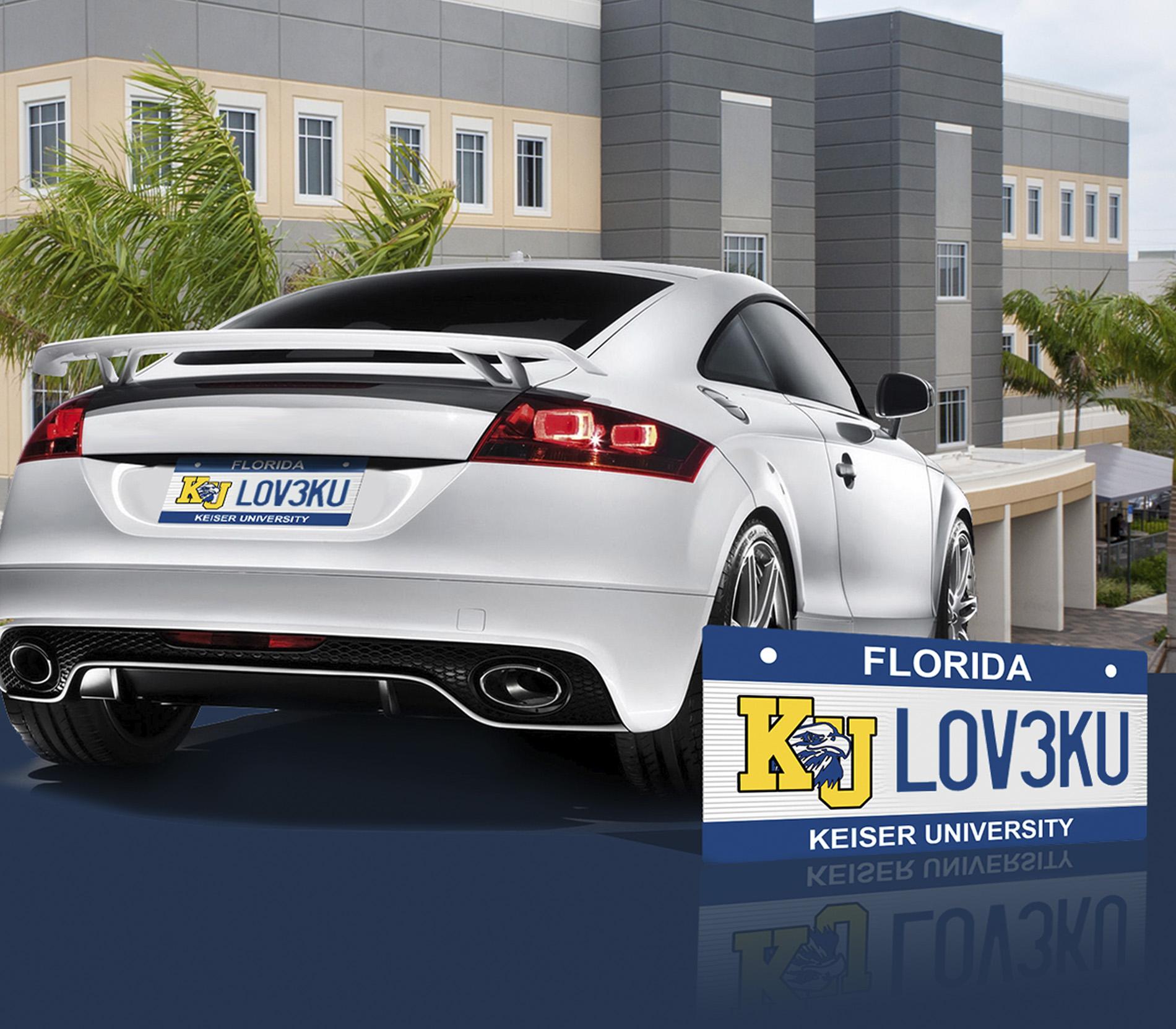 License Plate - Keiser University