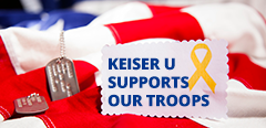 Keiser U Supports Our Troops