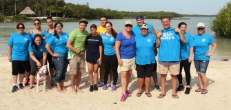 CFF Redbone Island Walk KU group and Cong. Joe Garcia March 2014