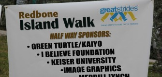 CFF Redbone Island Walk sign March 2014