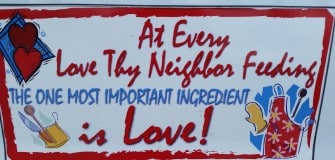 SOTA love thy neighbor May 2014 sign