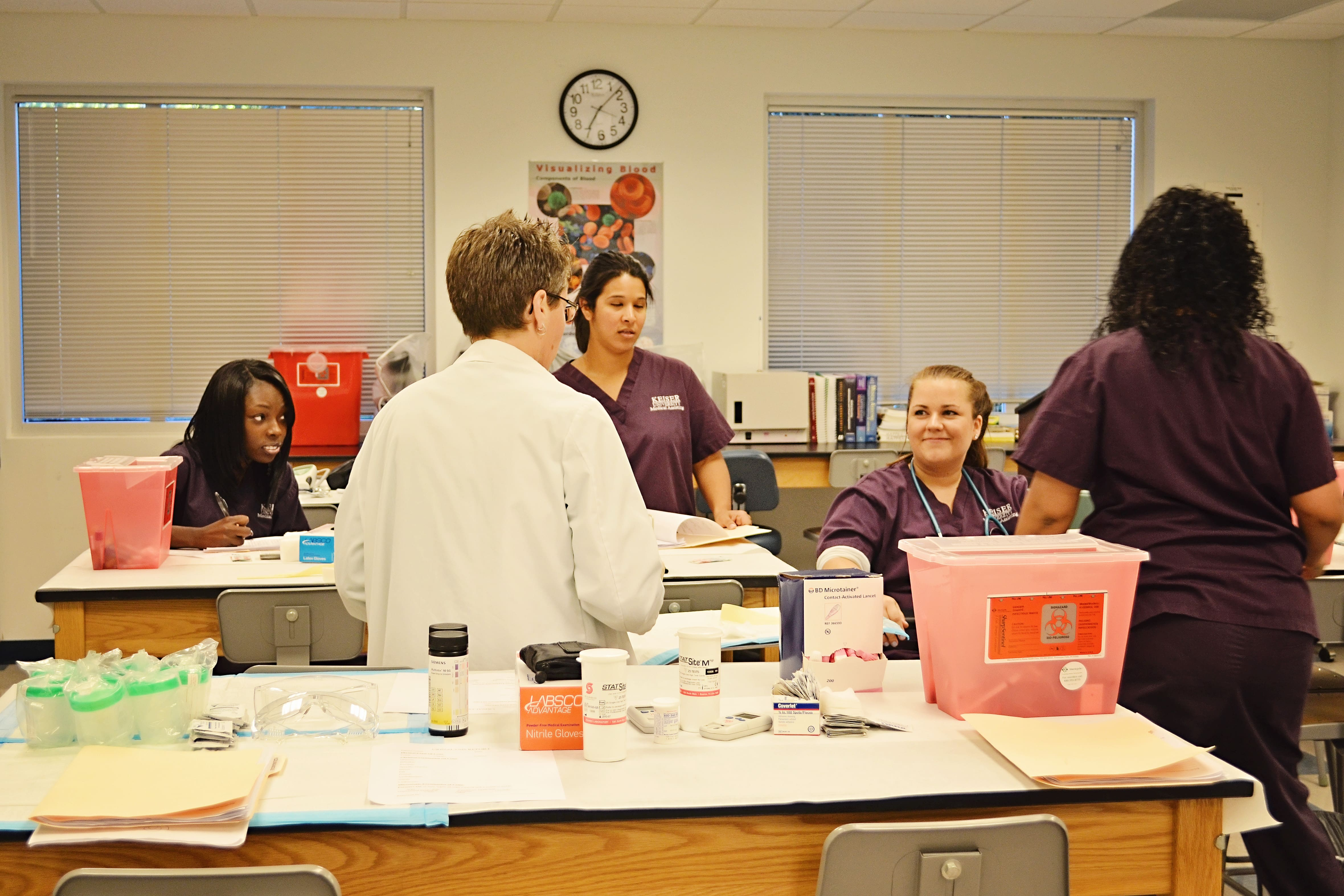 West Palm Beach Medical Assisting Students Practice Venipuncture