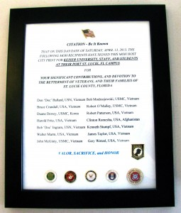 VVA congressional medal of honor partnership citation Sept. 2014 3