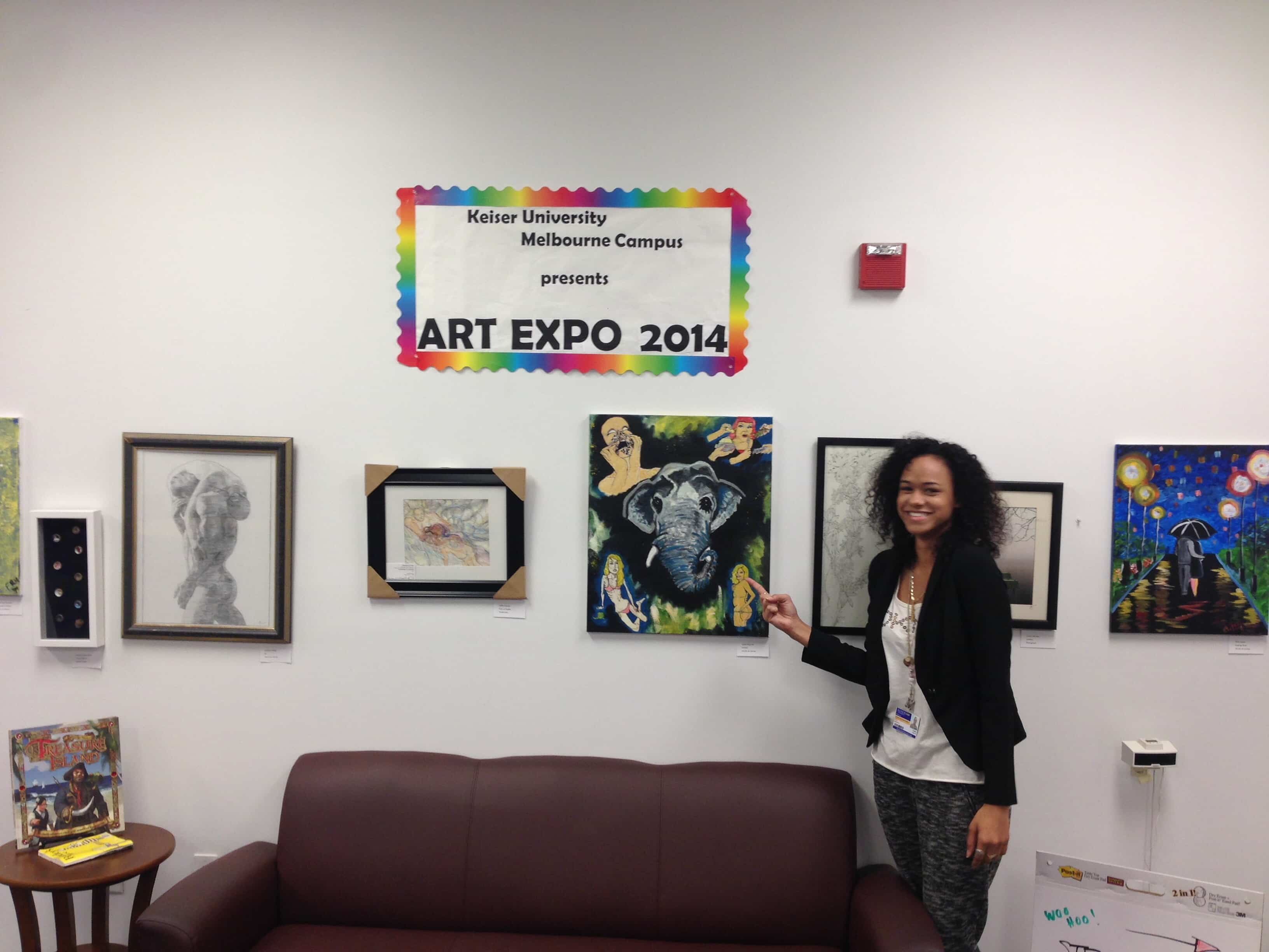 Melbourne Campus Library Hosts Art Expo 2014