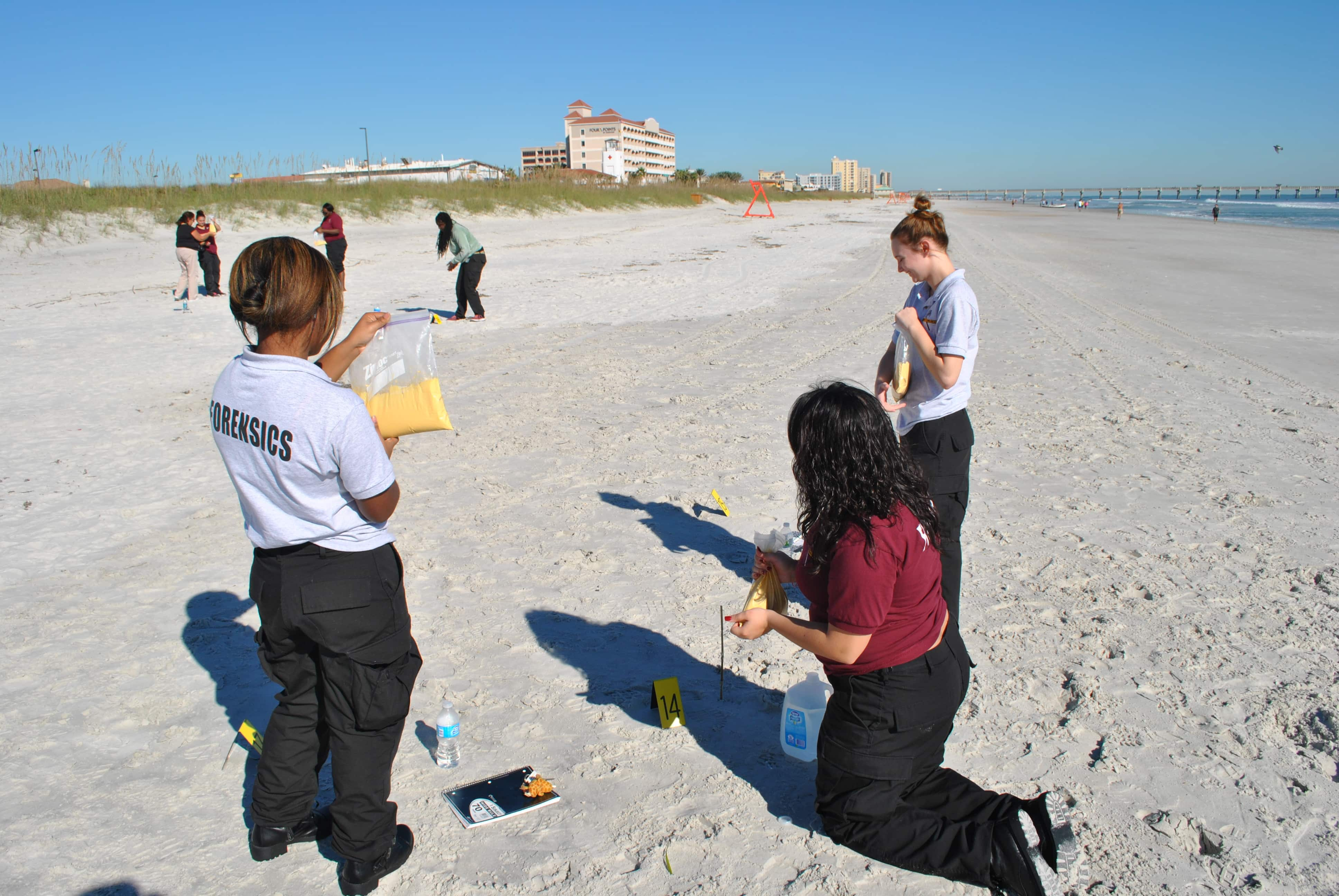 Jacksonville Crime Scene Technology Students Process a Mock Crime Scene