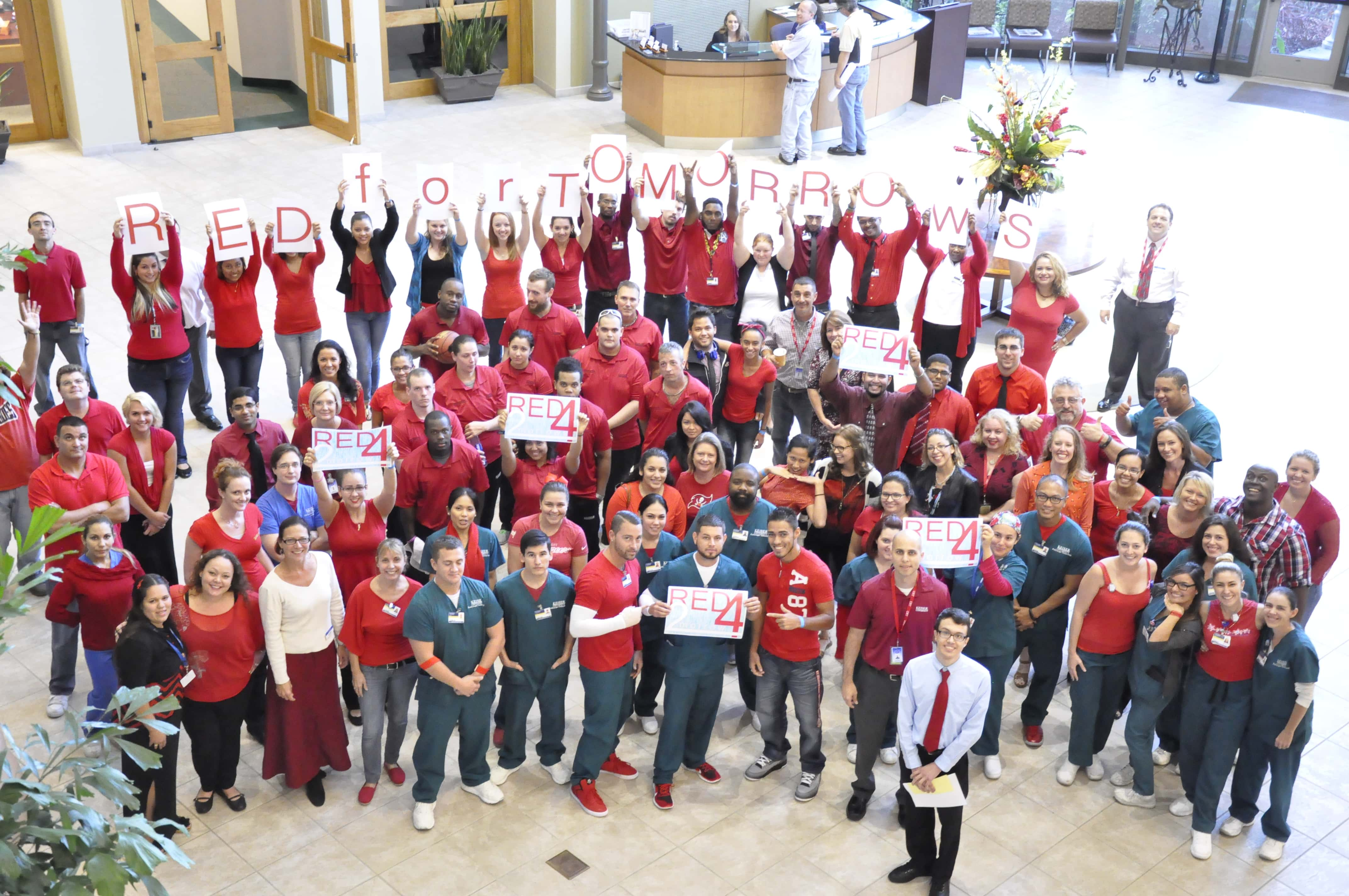 "KU Goes ""Red For Tomorrows"" on Behalf of Cystic Fibrosis"