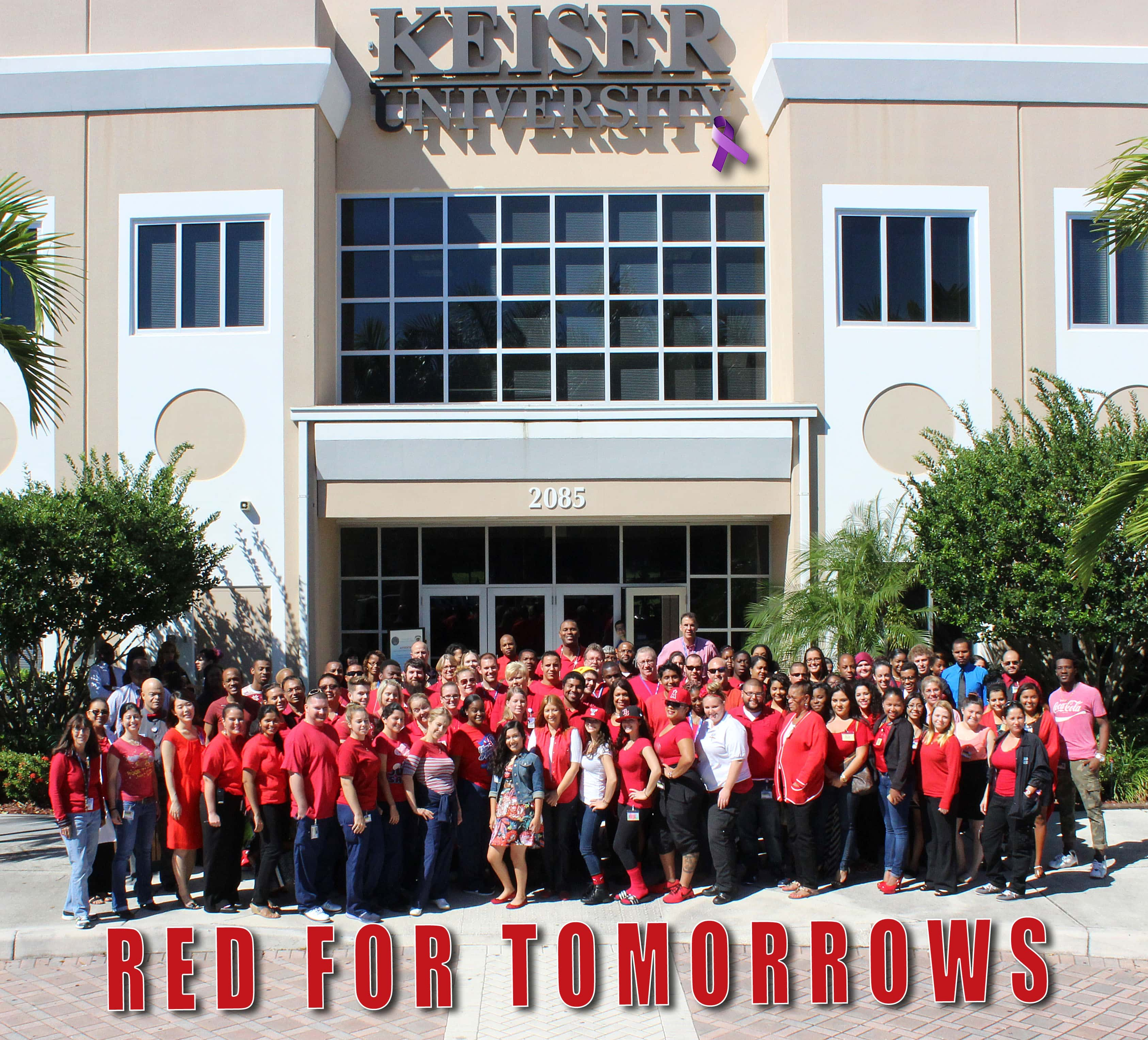 "Keiser University Portal >> KU Goes ""Red For Tomorrows"" on Behalf of Cystic Fibrosis ..."