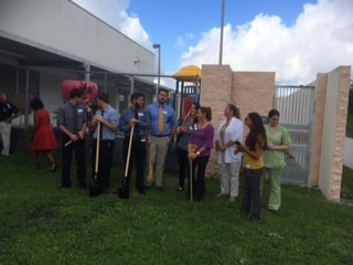 Port St. Lucie Partners with St. Lucie West Centennial High School  to Create a Community Garden