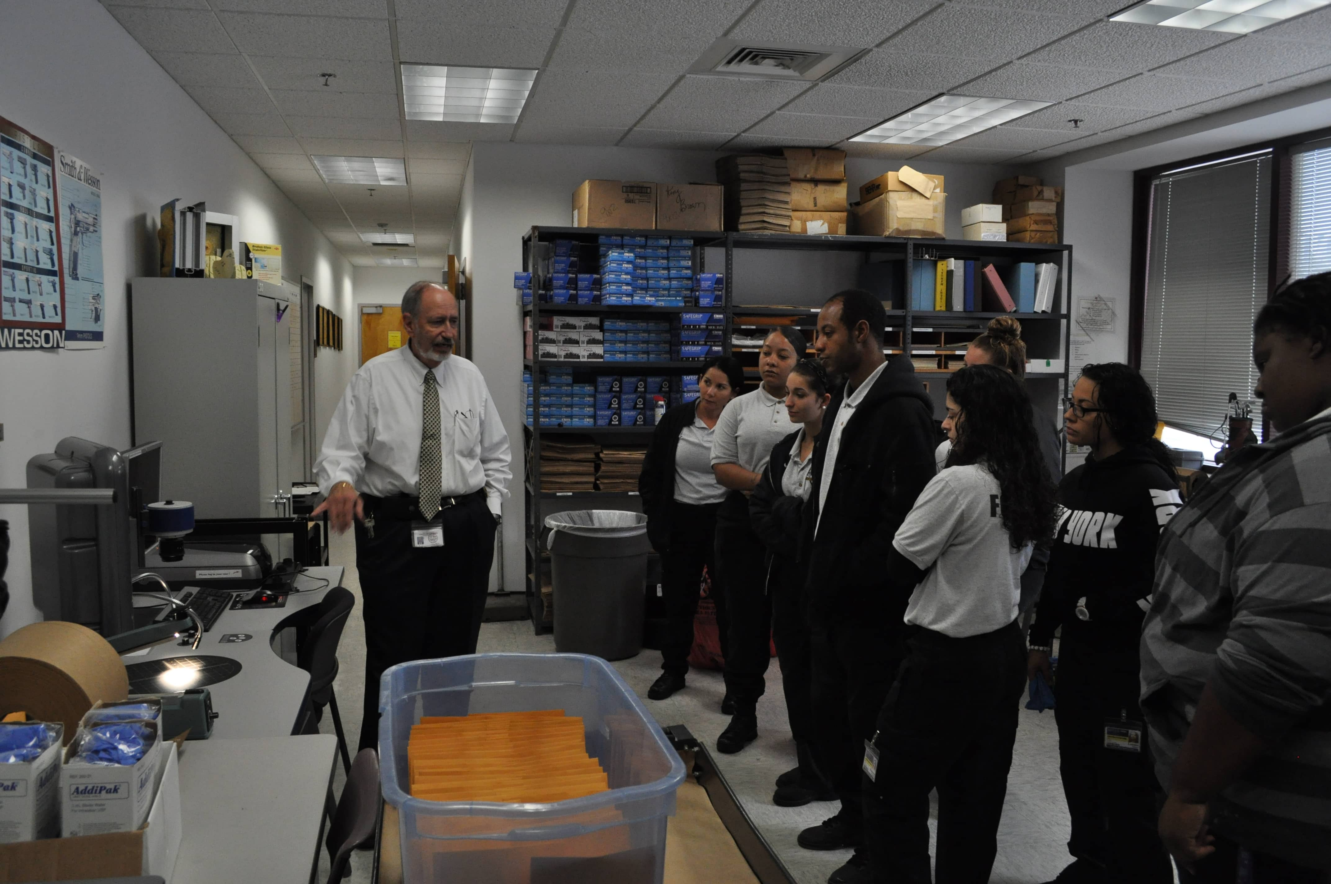 CST Students From West Palm Beach Visit The Crime Scene Unit