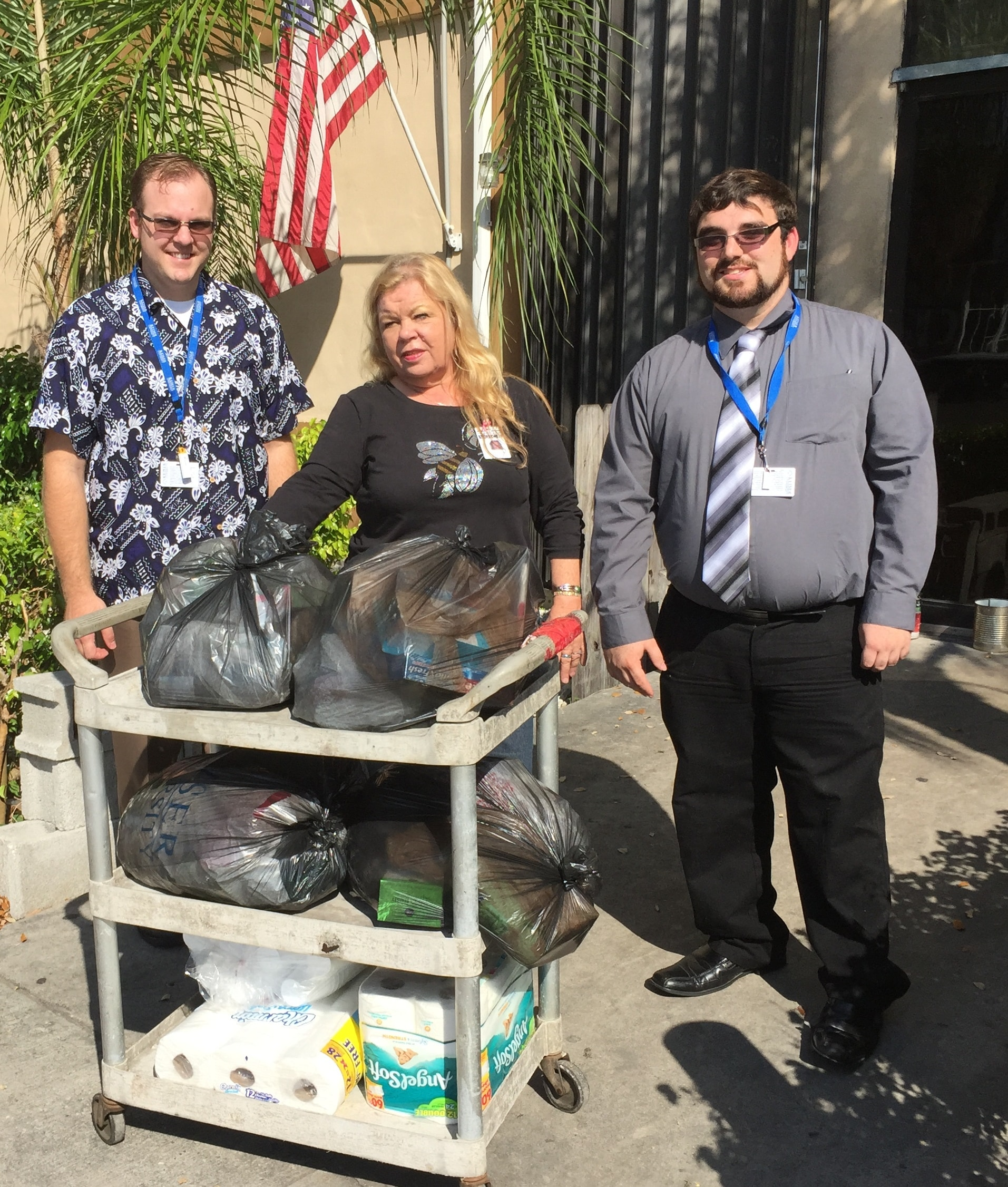 The NSNA and PTK at the Ft. Lauderdale Campus Make a Donation to The Homeless Voice