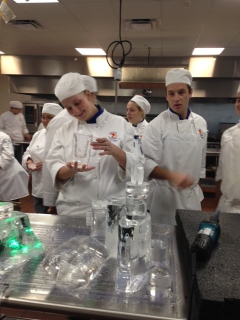 Sarasota's Center for the Culinary Arts Learns About Ice Welding