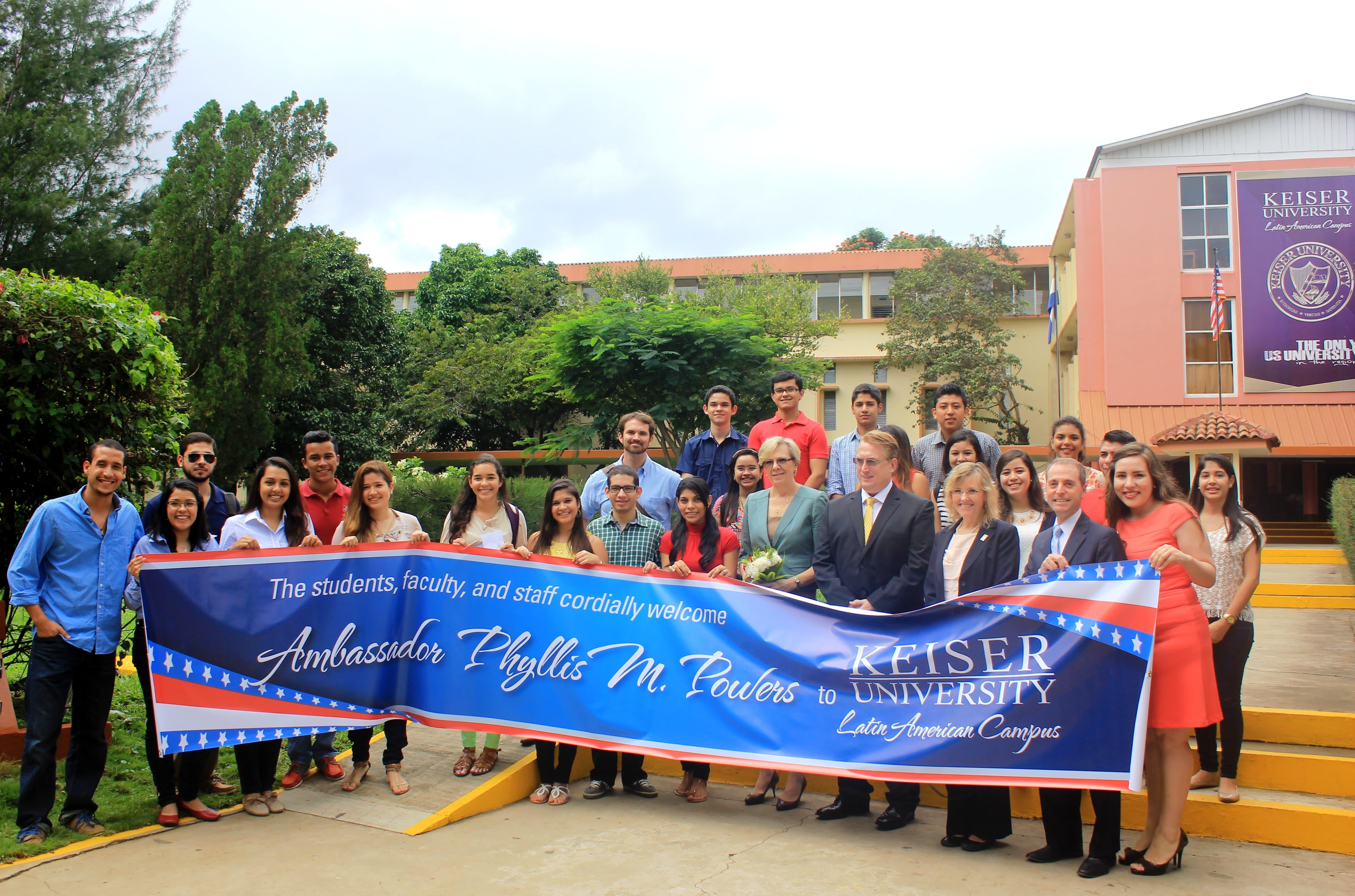 U.S. Ambassador to Nicaragua, Phyllis M. Powers, visits Keiser University's Latin American Campus