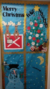 Door decorating Diagnostic Medical Sonography Dec. 2014 (2)
