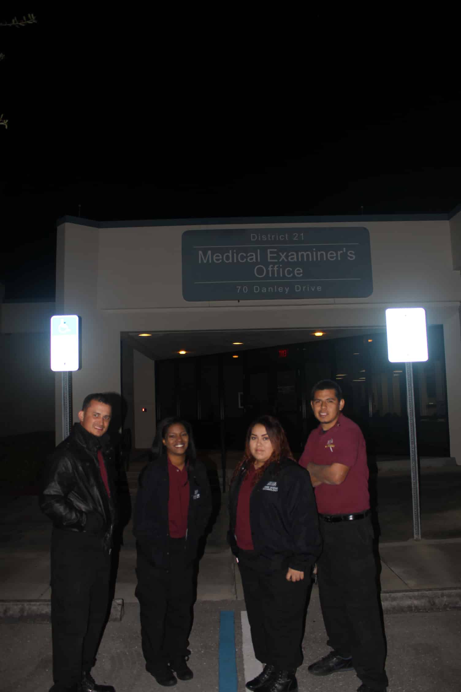 Forensic Investigation Students in Ft. Myers Visit the Medical Examiner's Office