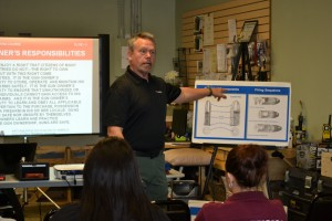 Forensic students get firearm safety Dec. 2014 (1)