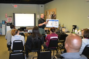 Forensic students get firearm safety Dec. 2014 (2)