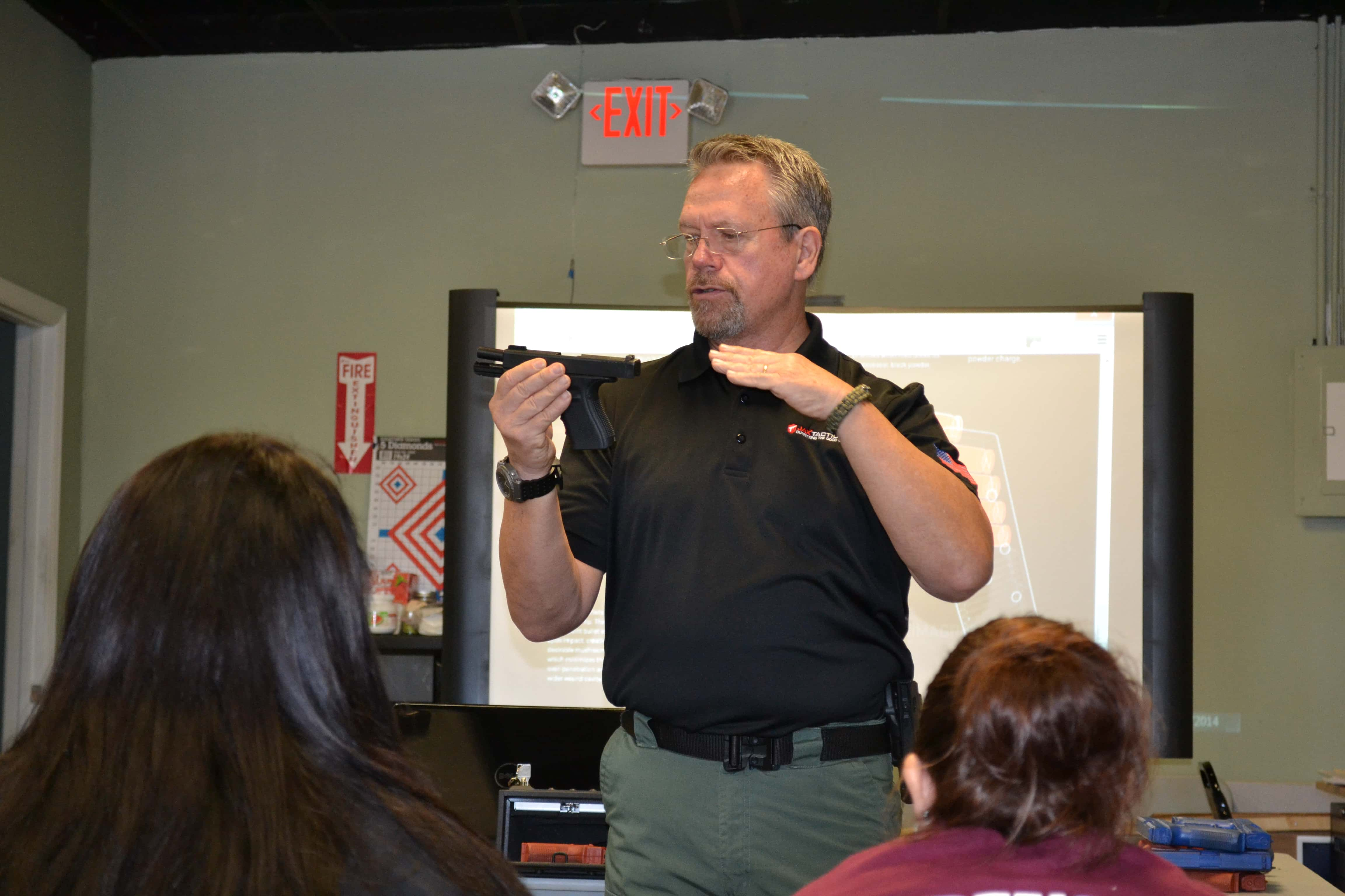Forensic Students in Jacksonville Attend a Lecture on Firearm Safety
