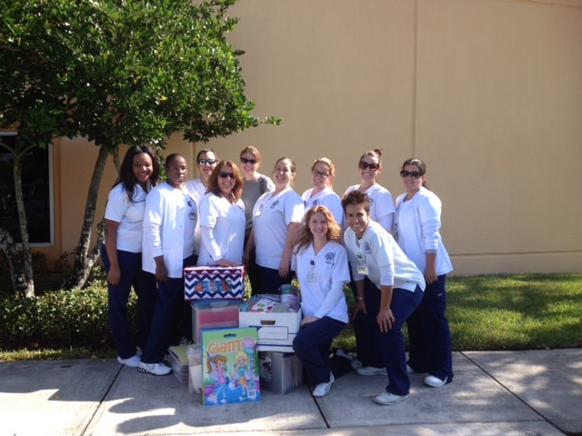 Nursing Students from West Palm Beach Visit Physician's Prescribed Extended Care with Donated Items