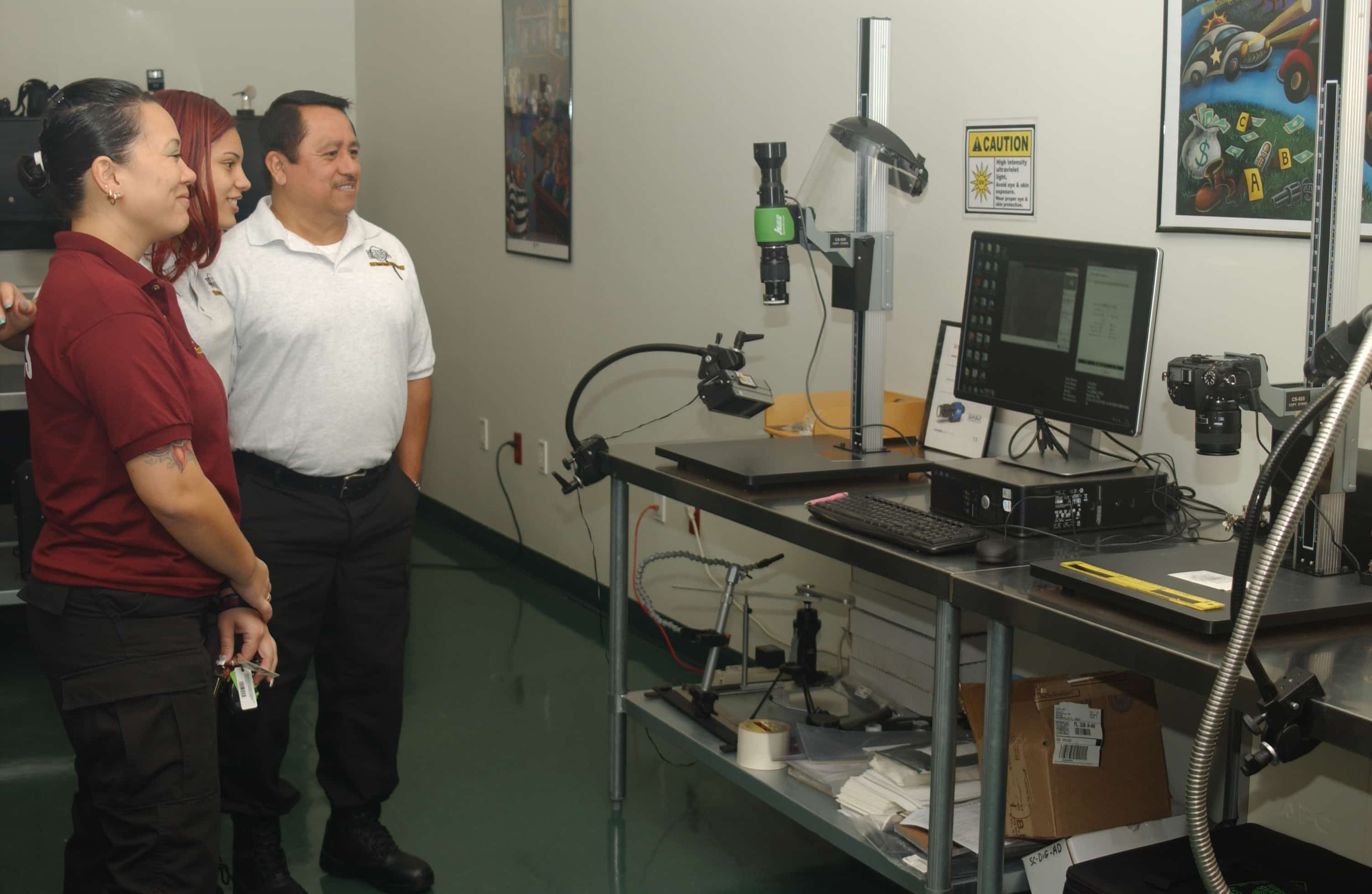 Fort Myers CST Fingerprint ID Class Visits Forensic Lab