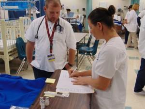 Nurses in sim lab Jan. 2015 (1)