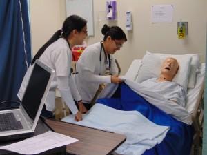 Nurses in sim lab Jan. 2015 (2)