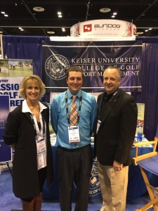 Liz Snyder, Brian Hughes, and alumni Patrick McKinstry.