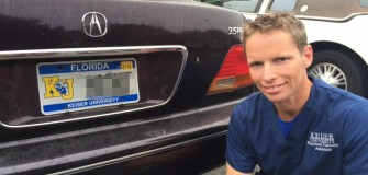 Plate on car of PTA student Jan. 2015 pixelated