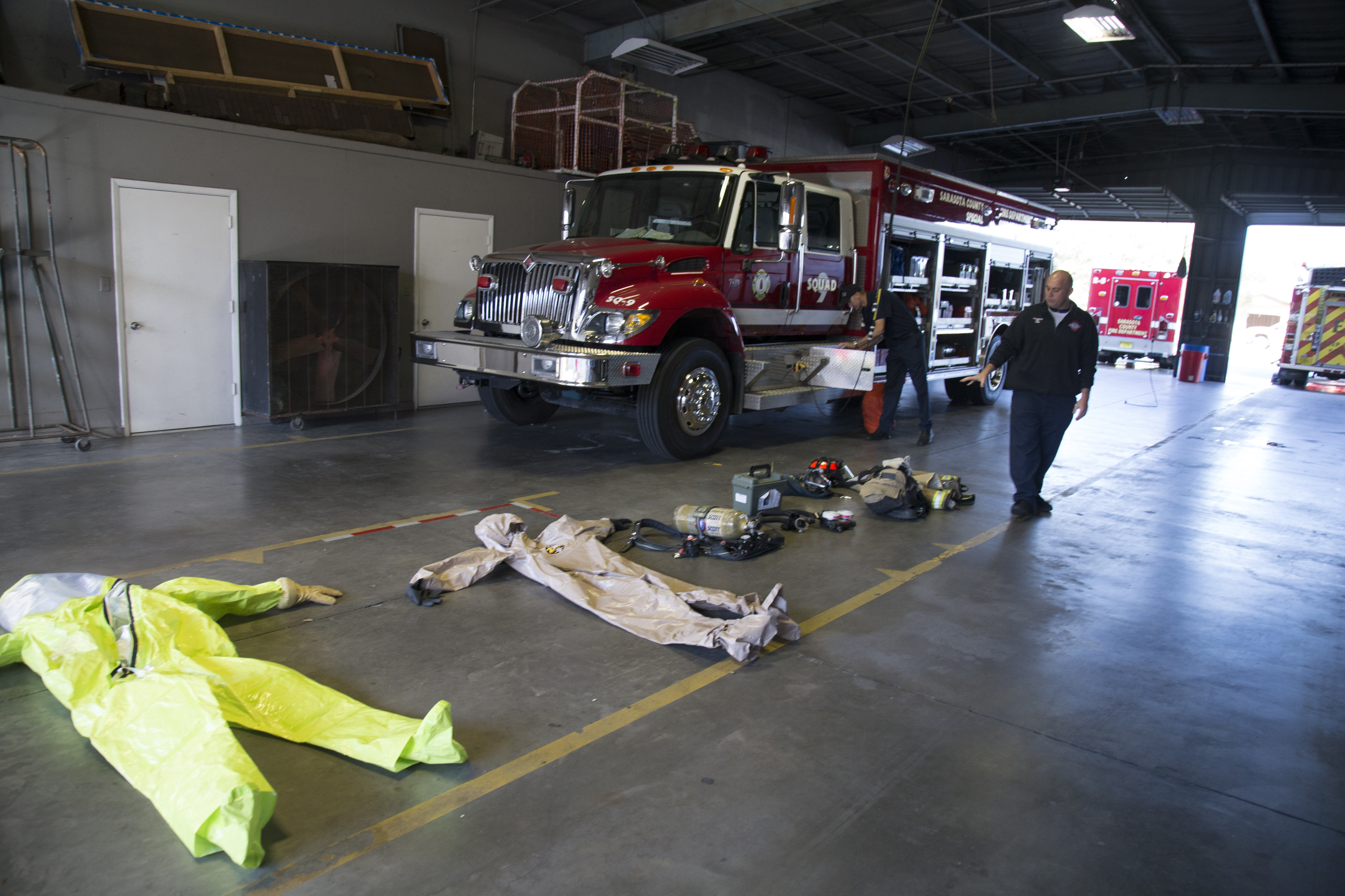 Crime Scene Technology Students Visit the Sarasota Fire Department