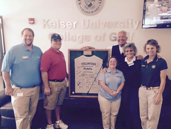 The College of Golf and Sport Management Receives an Award from Special Olympics