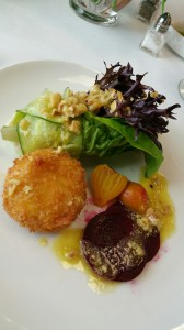 Baby Green Salad Beets Goat Cheese Quiche