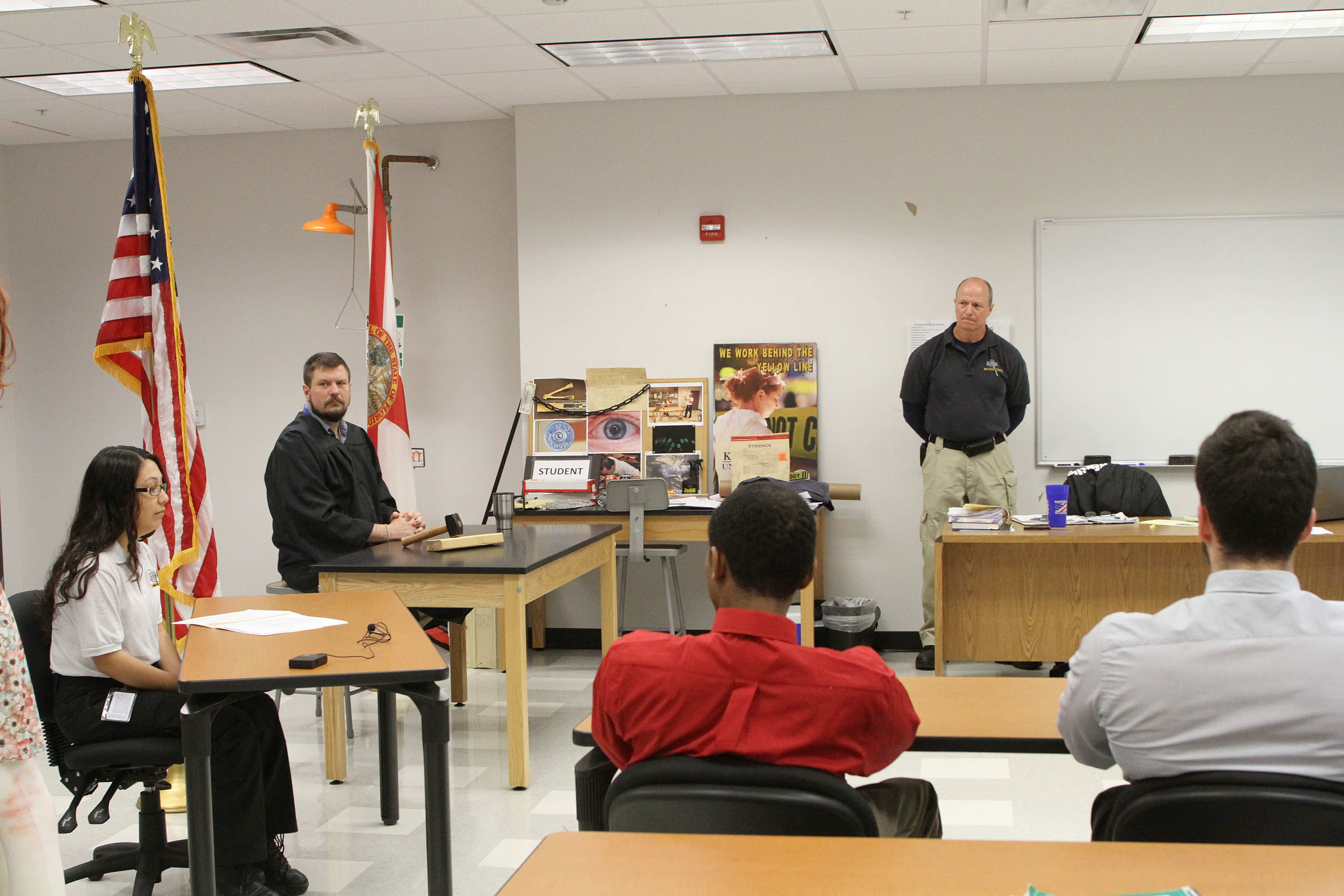 Crime Scene Technology Students Participate in a Mock Trial