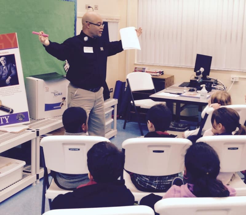 Representatives from the West Palm Beach Radiology Program Visit an Elementary School