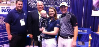 PGA merchandise booth with alumni Jan. 2015