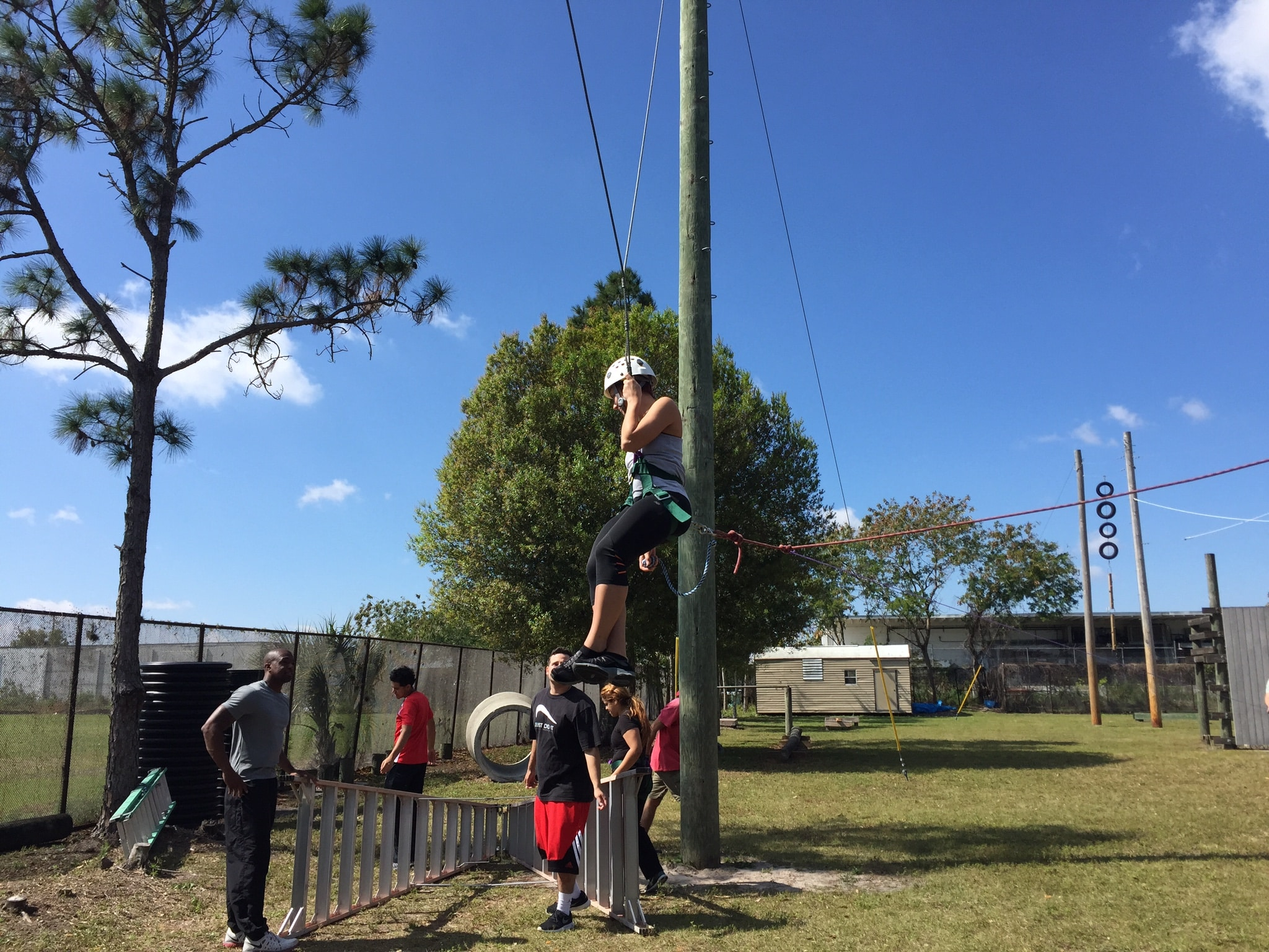 Fort Myers Sports Medicine & Fitness Technology Students Attend Ropes Course