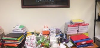 school supply drive Aug. 2014