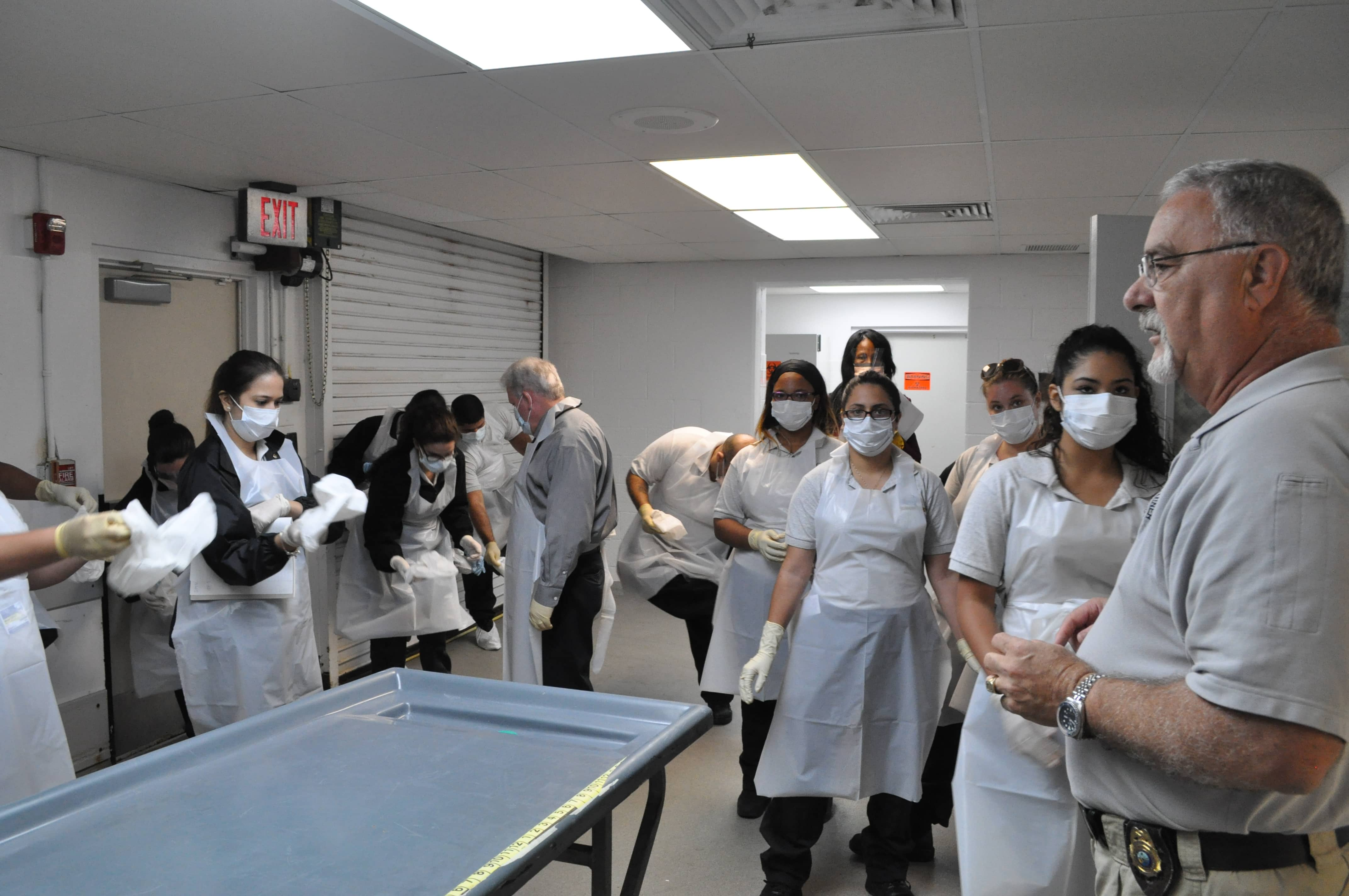 Crime Scene Technology Students from West Palm Beach, Miami and Pembroke Pines Tour the Palm Beach County Medical Examiner's Office