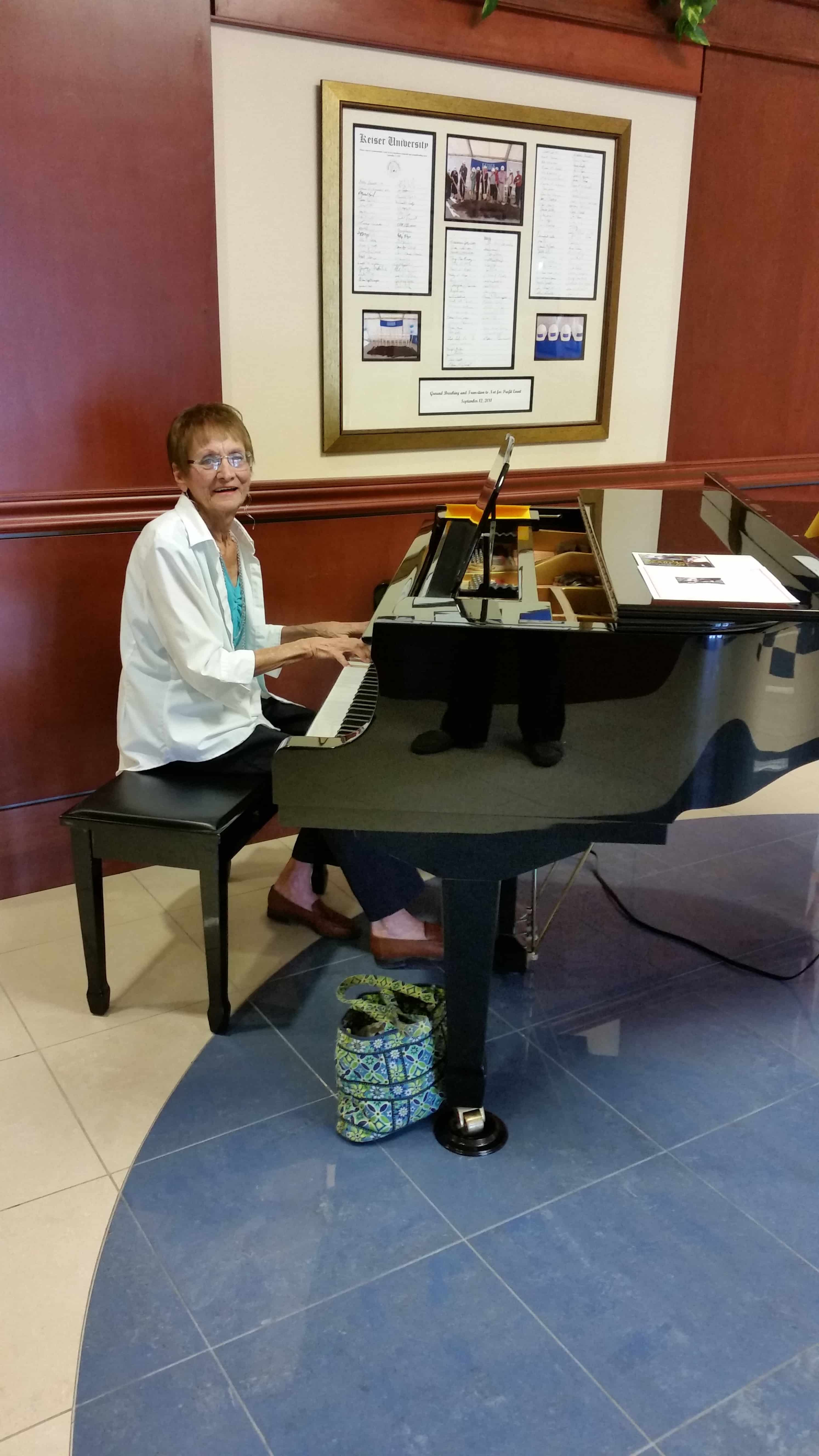 Sweet Sounds of Bobbee Cera on Fort Myers Campus Piano
