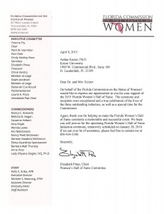 Commission on the Status of Women letter 2015