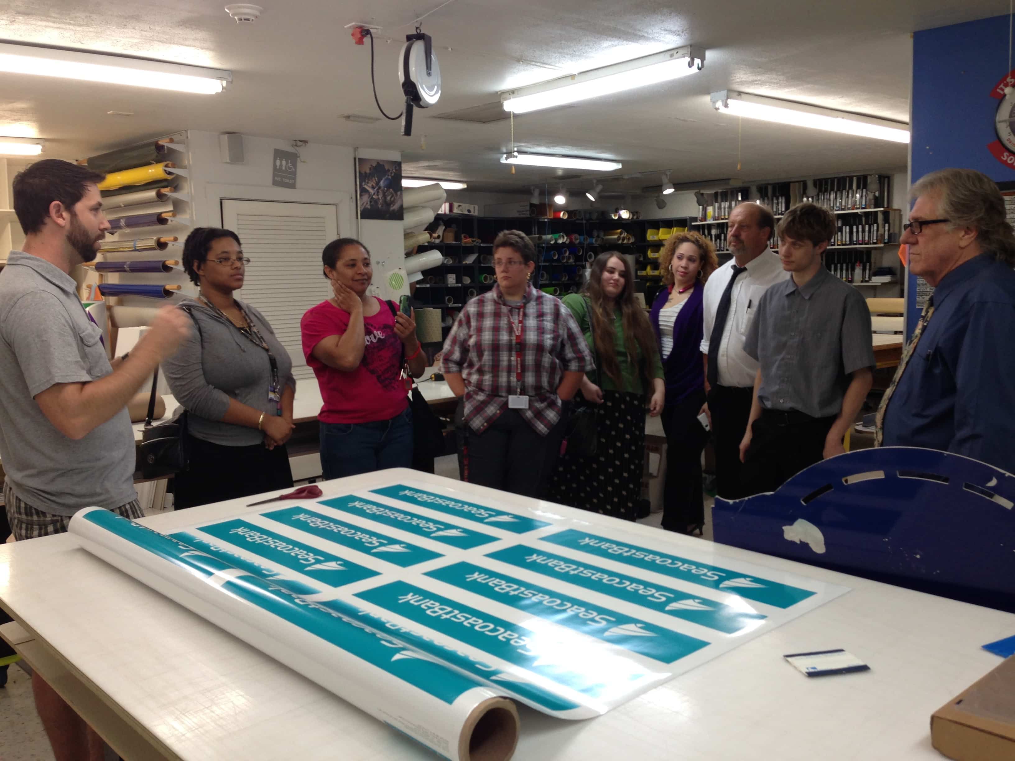 Port St. Lucie Students Visit Ampersand Graphics in Stuart