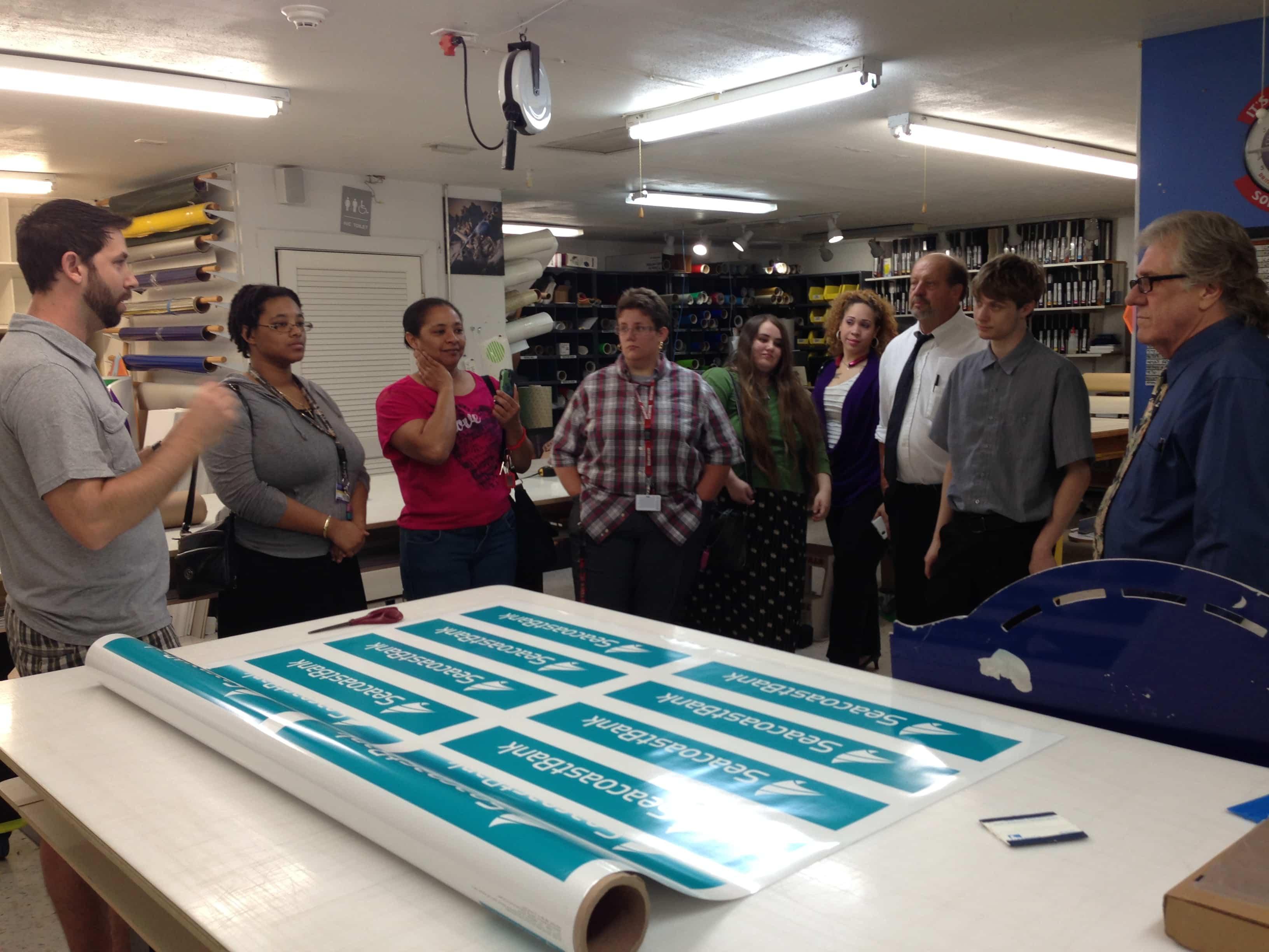 Port St. Lucie Students Visit Ampersand Graphics in Stuart
