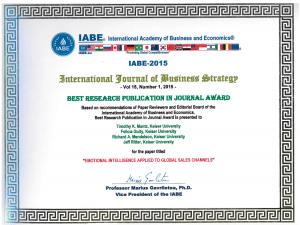 IABE award 2015
