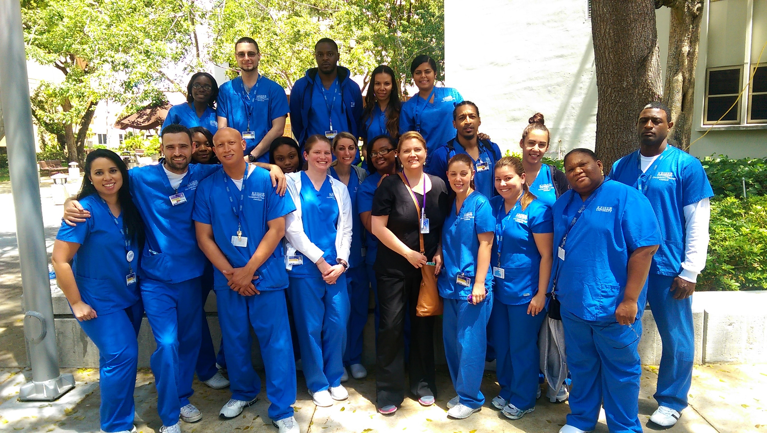 OTA Students from Ft. Lauderdale Visit Jackson Memorial Hospital