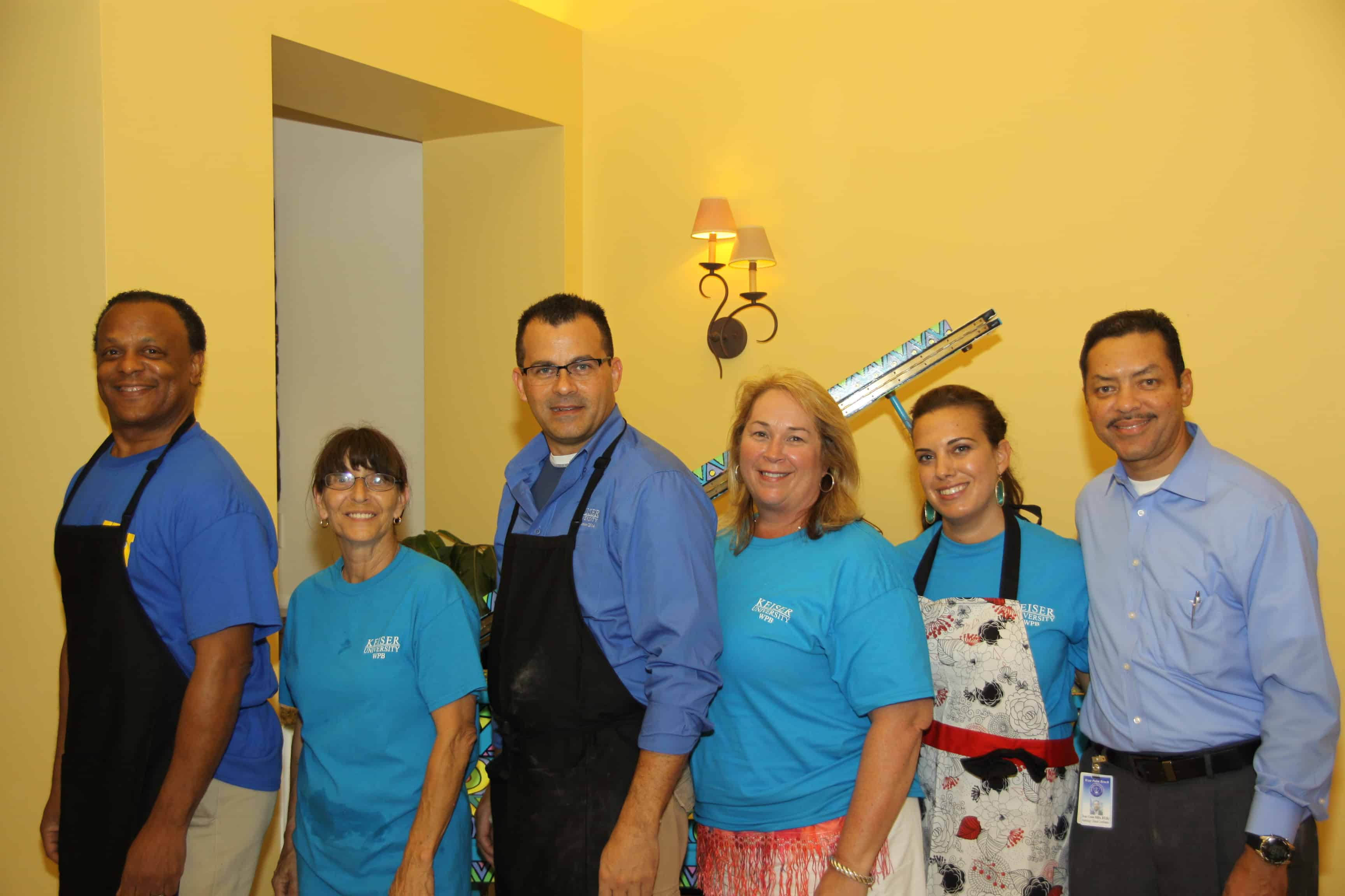 The West Palm Beach Team Volunteers at Quantum House