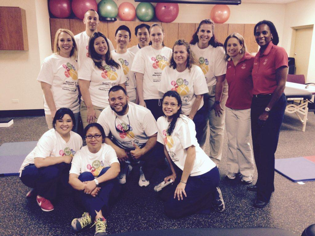Lakeland Physical Therapy Assistant Students Work with Special Olympics Athletes