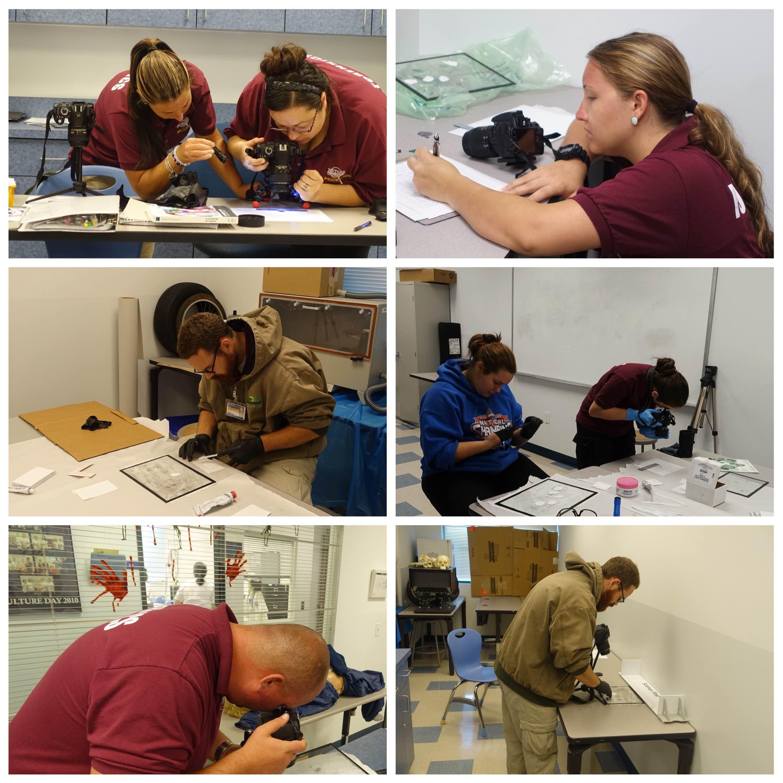 Forensic Investigation Students in Lakeland Learn Fingerprinting Skills
