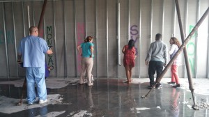 Spray paint new building walls May 2015 (1)