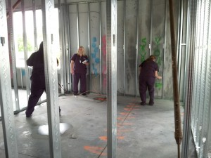 Spray paint new building walls May 2015 (4)