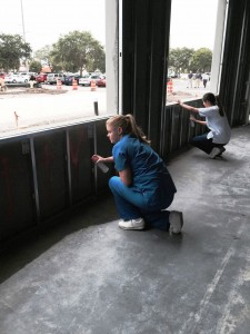 Spray paint new building walls May 2015 (6)