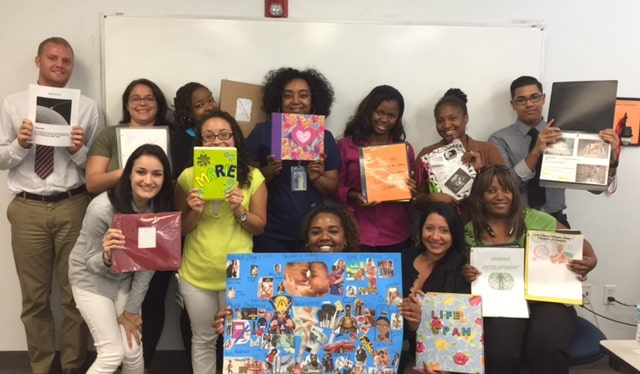 Lifespan Development Students at the West Palm Beach Campus Create Lifespan Scrapbooks