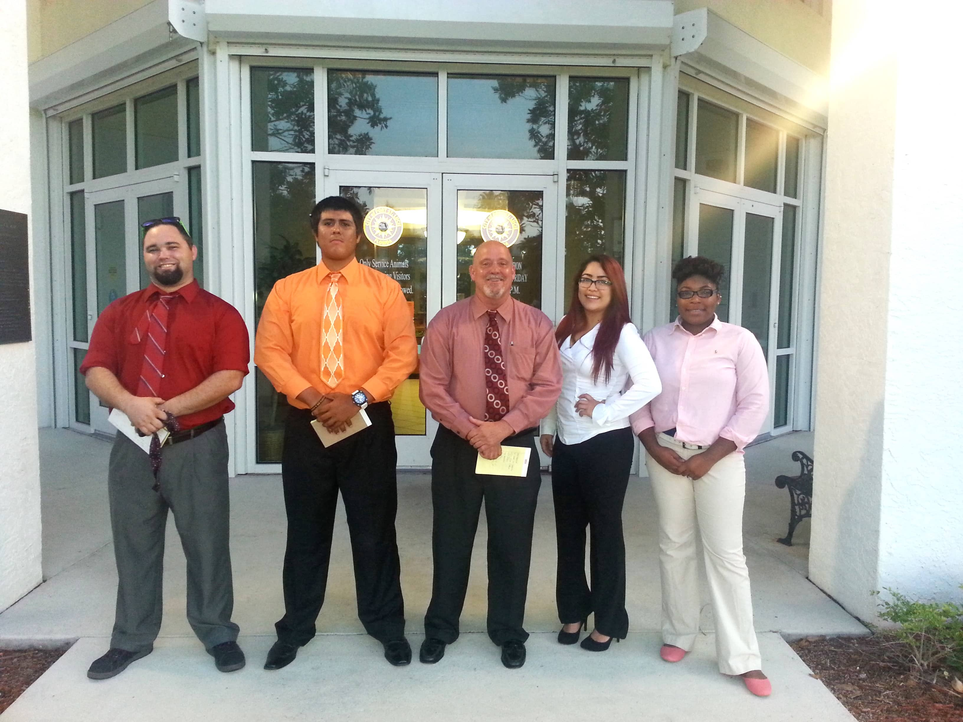 Speech Students Attend City Council Meeting in Port St. Lucie